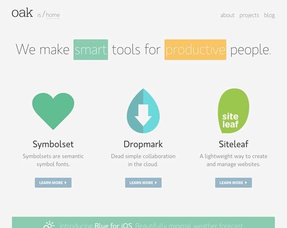 23 個平面網頁設計範例