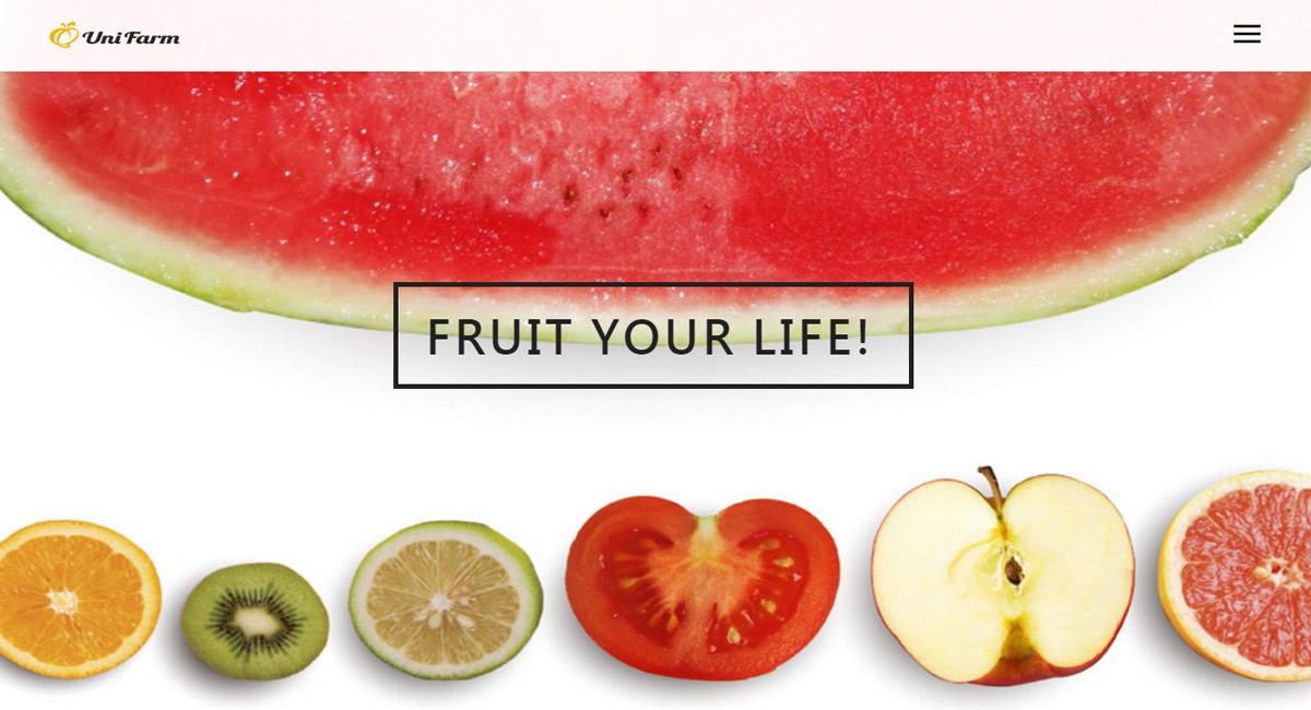 Quni Farm 現切水果盒 RWD 購物網站